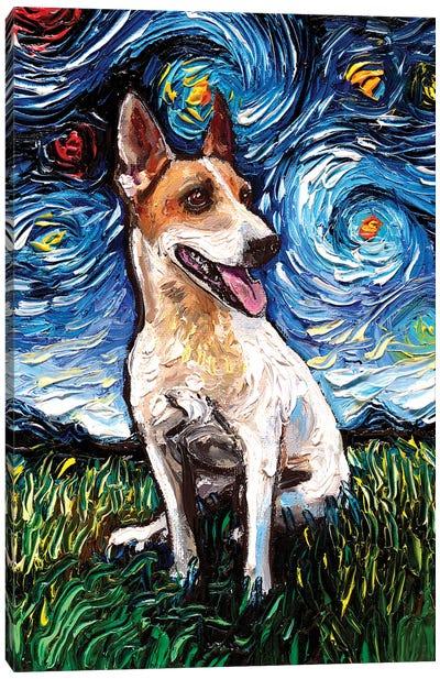 Jack Russell Terrier Night IV Canvas Art Print