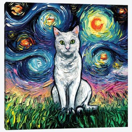 White Cat Night Canvas Print #AJT295} by Aja Trier Canvas Art Print