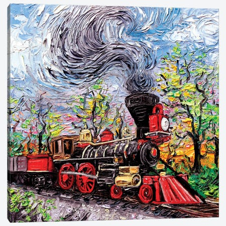 All Aboard Canvas Print #AJT2} by Aja Trier Art Print