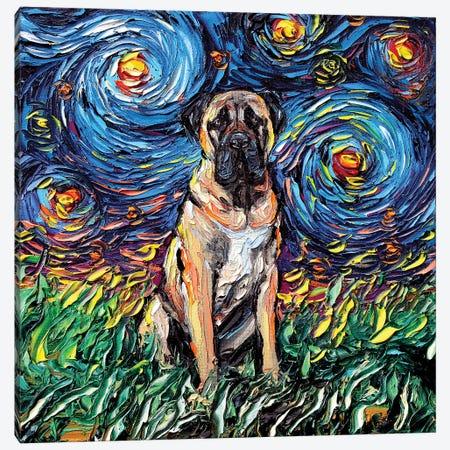 Fawn Mastiff Night Canvas Print #AJT31} by Aja Trier Canvas Art
