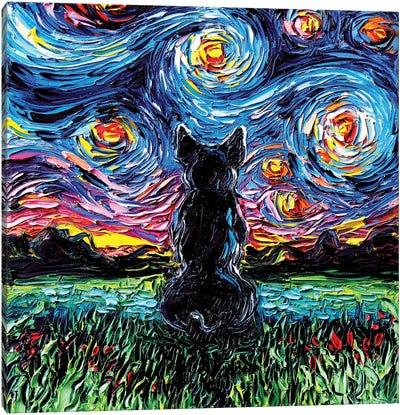 French Bulldog Night Canvas Art Print