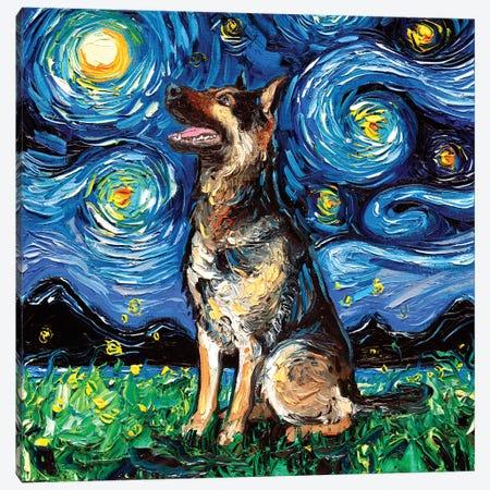 German Shepherd Night II Canvas Print #AJT34} by Aja Trier Art Print