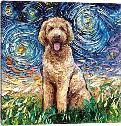 Goldendoodle Night Canvas Art Print