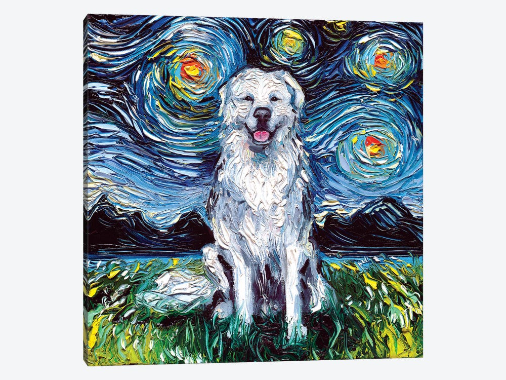Great Pyrenees Night by Aja Trier 1-piece Art Print