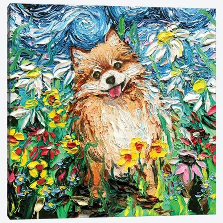 Happy Canvas Print #AJT38} by Aja Trier Canvas Wall Art
