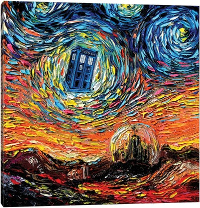 van Gogh Never Saw Gallifrey Canvas Art Print