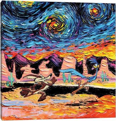 Van Gogh Never Caught The Road Runner Canvas Art Print