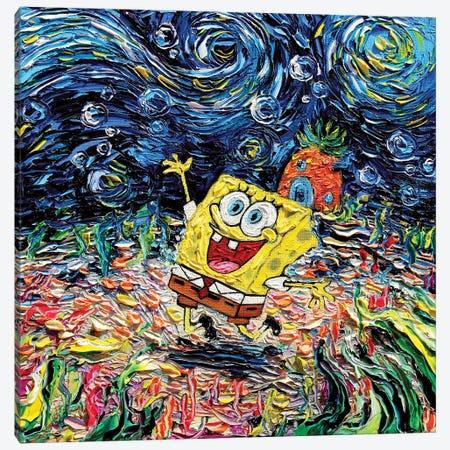 Van Gogh Never Saw Bikini Bottom Canvas Print #AJT415} by Aja Trier Canvas Print