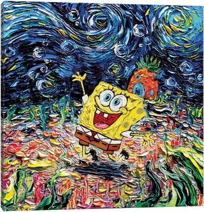 Van Gogh Never Saw Bikini Bottom Canvas Art Print