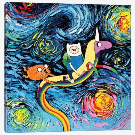 Van Gogh Never Went On An Adventure Canvas Print #AJT423} by Aja Trier Art Print