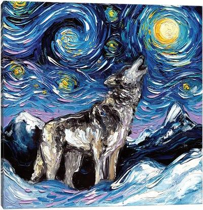 Lupine Night Canvas Art Print
