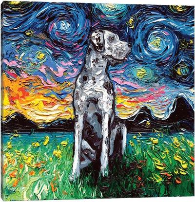 Merle Great Dane Night Canvas Art Print