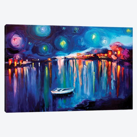 Midnight Harbor XXII Canvas Print #AJT44} by Aja Trier Canvas Wall Art