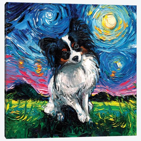 Papillon Night Canvas Print #AJT47} by Aja Trier Canvas Artwork