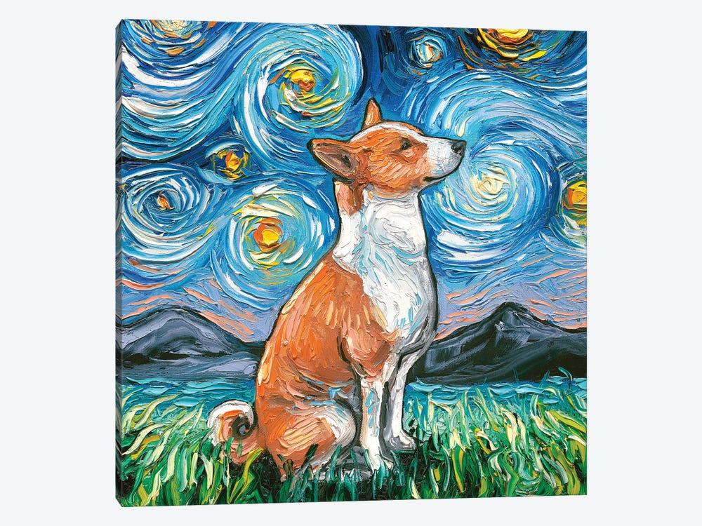 Basenji Night by Aja Trier 1-piece Art Print