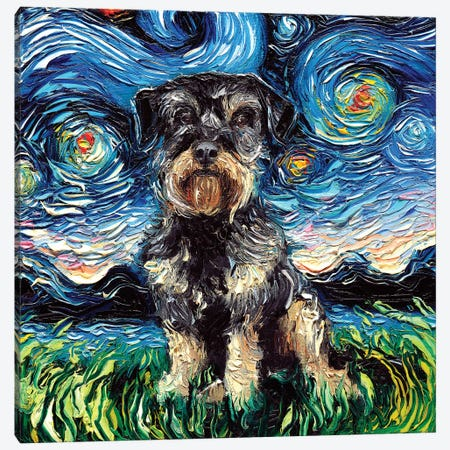 Schnoodle Night Canvas Print #AJT56} by Aja Trier Canvas Print
