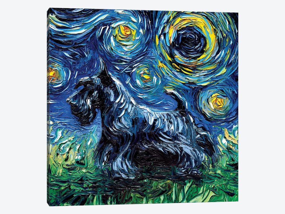 Scotty Night by Aja Trier 1-piece Canvas Art Print
