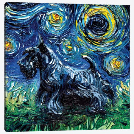 Scotty Night Canvas Print #AJT57} by Aja Trier Canvas Art Print