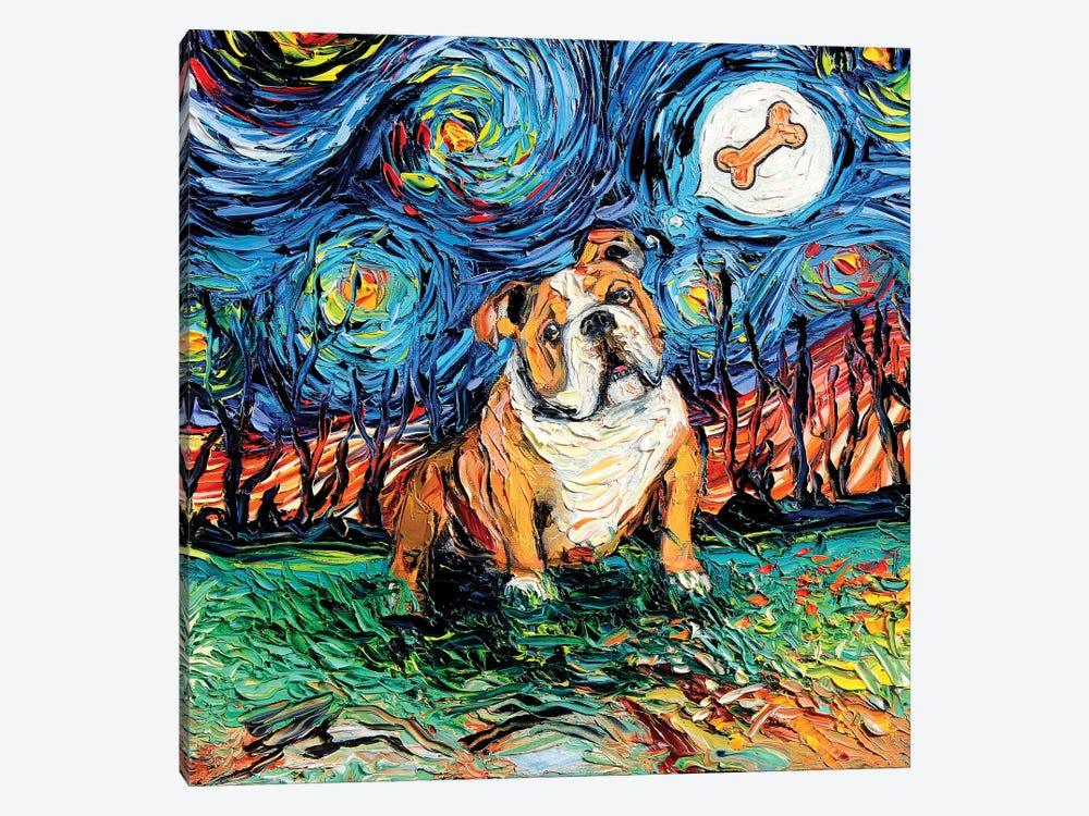Starry Bulldog by Aja Trier 1-piece Art Print