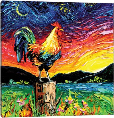 Starry Starry Morning Canvas Art Print
