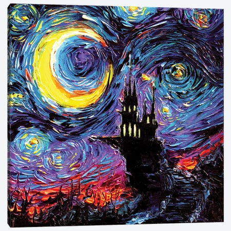 The Haunting Of Van Gogh Canvas Print #AJT66} by Aja Trier Canvas Artwork
