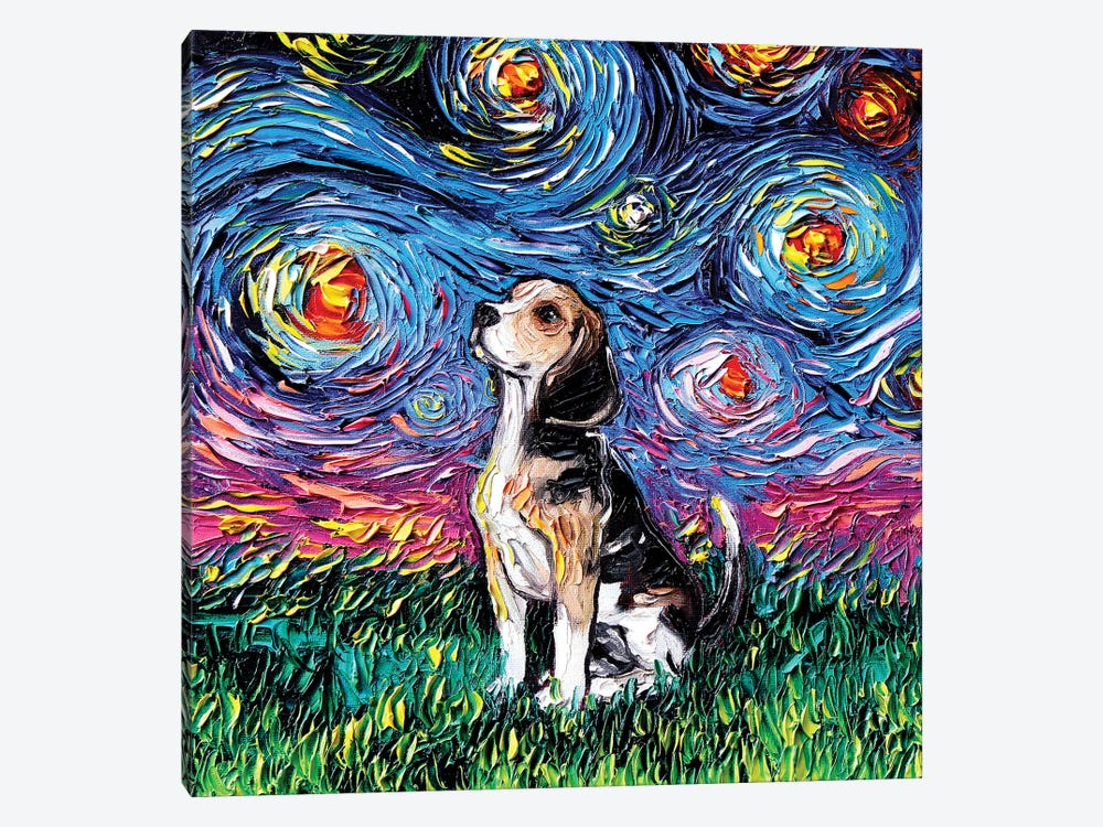 Beagle Night by Aja Trier 1-piece Art Print