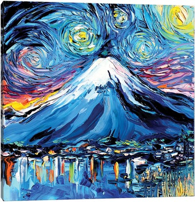 Van Gogh Never Saw Fuji Canvas Art Print