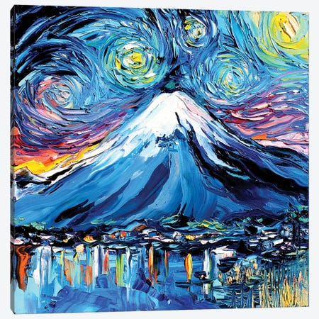 Van Gogh Never Saw Fuji Canvas Print #AJT70} by Aja Trier Canvas Wall Art