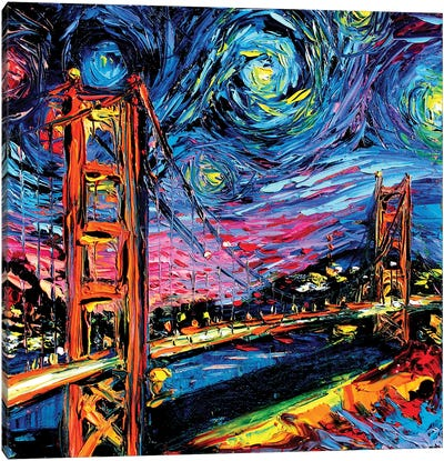 Van Gogh Never Saw Golden Gate Canvas Art Print