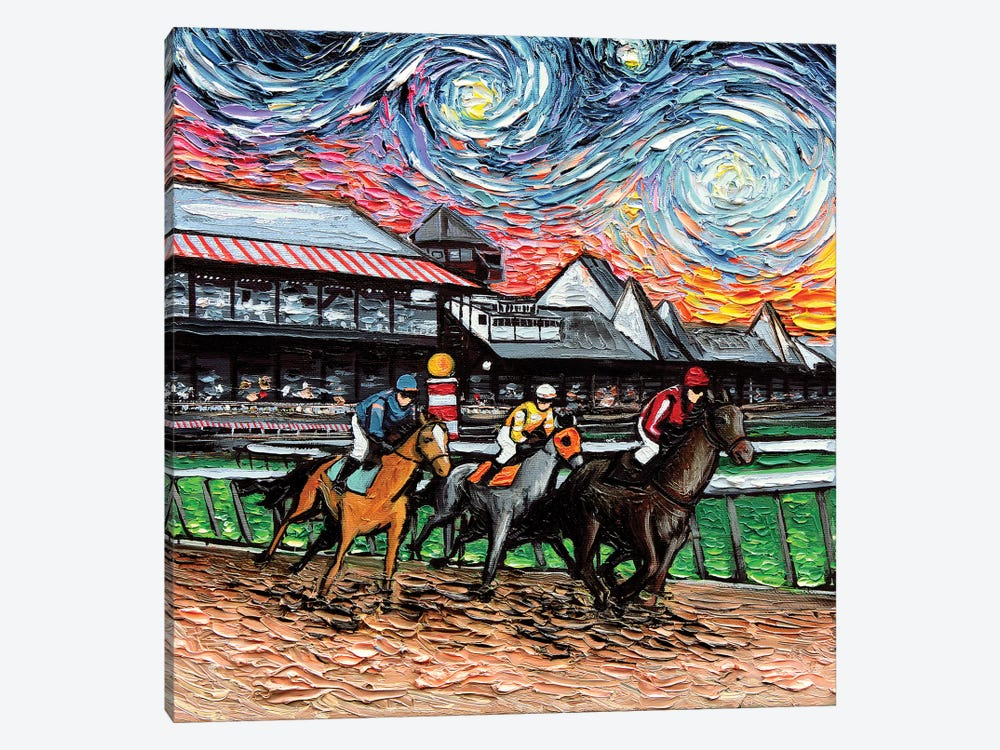 Van Gogh Never Saw Saratoga by Aja Trier 1-piece Canvas Artwork
