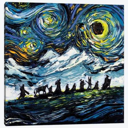 Van Gogh Never Saw The Fellowship 3-Piece Canvas #AJT75} by Aja Trier Canvas Print