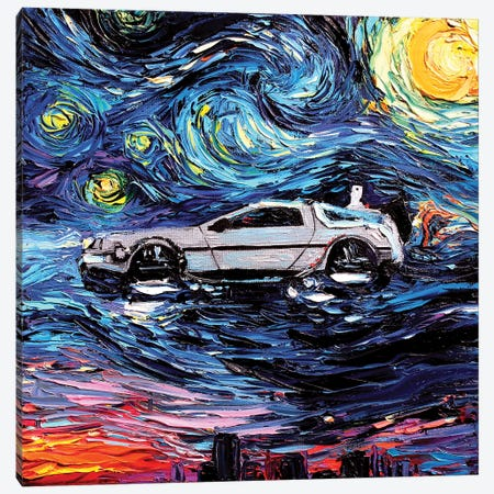 Van Gogh Never Saw The Future Canvas Print #AJT76} by Aja Trier Canvas Art Print