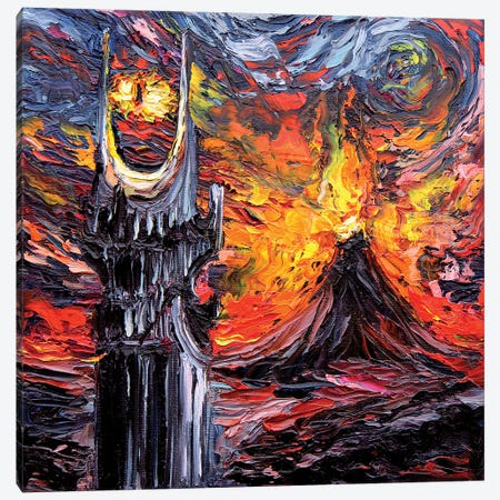 Van Gogh Never Saw The Land Of Shadow Canvas Print #AJT77} by Aja Trier Art Print