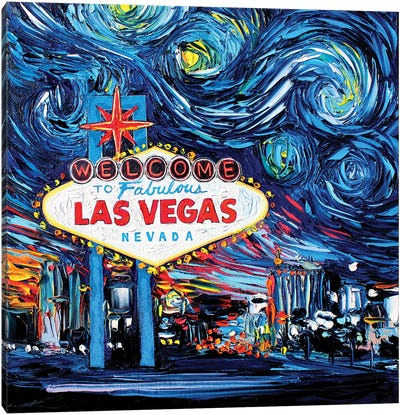 Van Gogh Never Saw Vegas Canvas Art Print