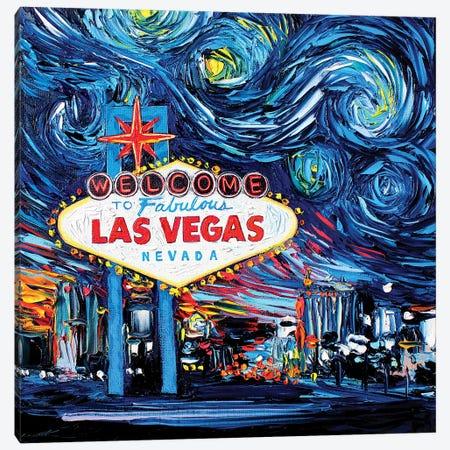 Van Gogh Never Saw Vegas Canvas Print #AJT78} by Aja Trier Canvas Artwork