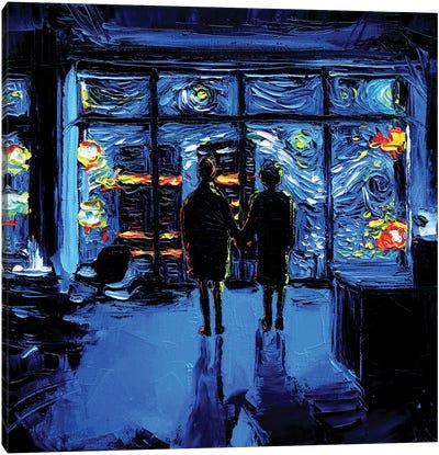Van Gogh Never Watched The World Burn Canvas Art Print