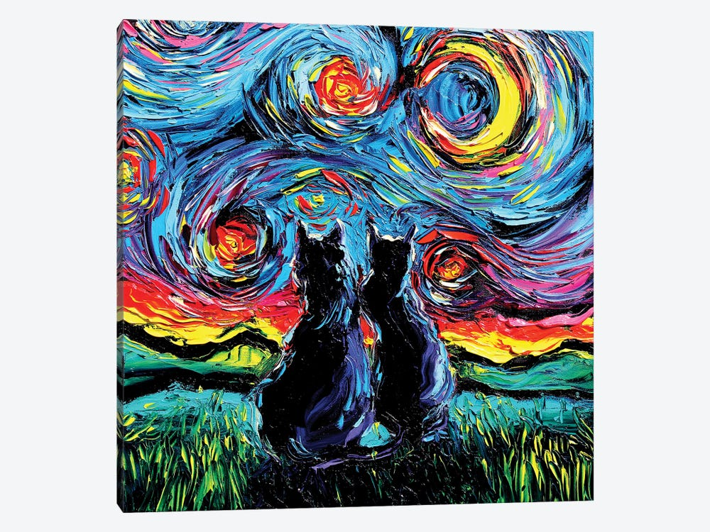 Van Gogh's Cats by Aja Trier 1-piece Canvas Artwork