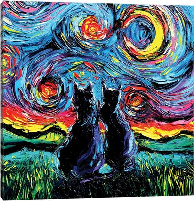 Van Gogh's Cats Canvas Art Print