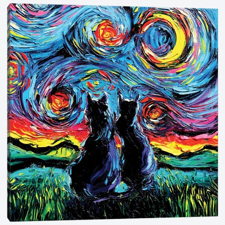 Van Gogh's Cats Canvas Print #AJT81} by Aja Trier Canvas Print