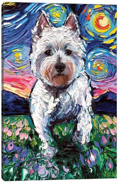 Westie Night II Canvas Art Print