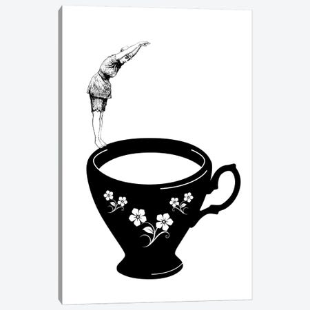 Dive In Tea Cup 3-Piece Canvas #AKB13} by Amy & Kurt Berlin Canvas Art Print