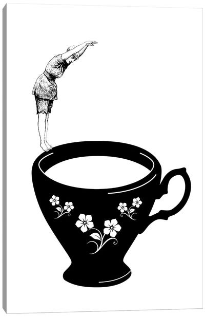 Dive In Tea Cup Canvas Art Print