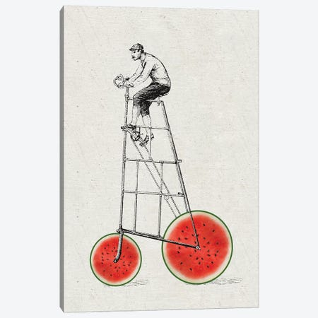 Melon Bike Canvas Print #AKB24} by Amy & Kurt Berlin Art Print