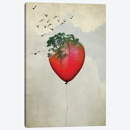Red Balloon Canvas Print #AKB28} by Amy & Kurt Berlin Canvas Wall Art