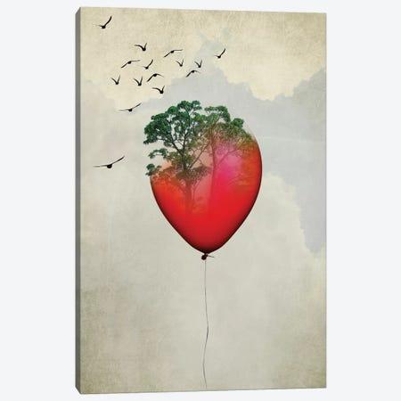 Red Balloon Canvas Print #AKB28} by Amy & Kurt Berlin Canvas Wall Art