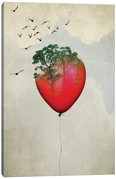 Red Balloon Canvas Art Print