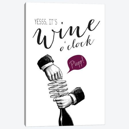 Wine O'Clock Canvas Print #AKB35} by Amy & Kurt Berlin Canvas Art