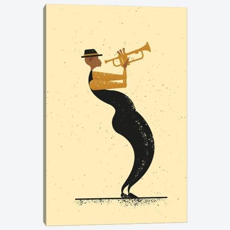 Jazz Player Canvas Print #AKC29} by Amer Karic Art Print
