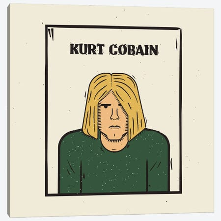 Kurt Cobain Canvas Print #AKC32} by Amer Karic Canvas Art
