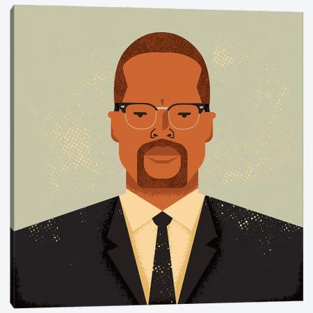 Malcolm X Canvas Print #AKC34} by Amer Karic Canvas Art Print